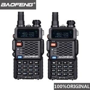 Image 1 - 2個オリジナルbaofeng F8 + 長距離woki土岐警察トランシーバートランシーバー5キロ範囲双方向ラジオwalkyトーキーアマチュア無線のhf受信機