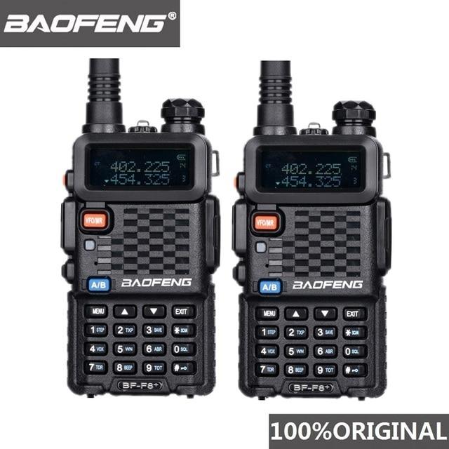 2 sztuk oryginalny BaoFeng F8 + duża odległość Woki Toki policja walkie talkie 5km zasięg dwukierunkowy Radio krótkofalówka Ham Radio HF odbiornik