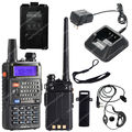 BAOFENG UV-5RE PLUS UV5RE + VHF/UHF de Doble Banda 5 W 128CH FM VOX Radio de Dos Vías LB0516