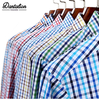 2018 Новый Для мужчин Повседневное Рубашки в клетку Высокая Качественный 100% хлопок с длинным рукавом мужской рубашки квадратная сетка социал