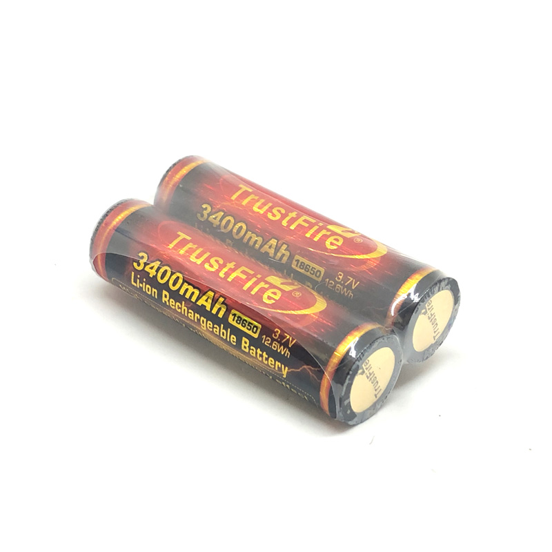 5pcs lot TrustFire 18650 3 7V 12 6Wh 3400mAh Li ion Rechargeable Battery with PCB Protection For LED Flashlight Bicycle Headlamp in Rechargeable Batteries from Consumer Electronics