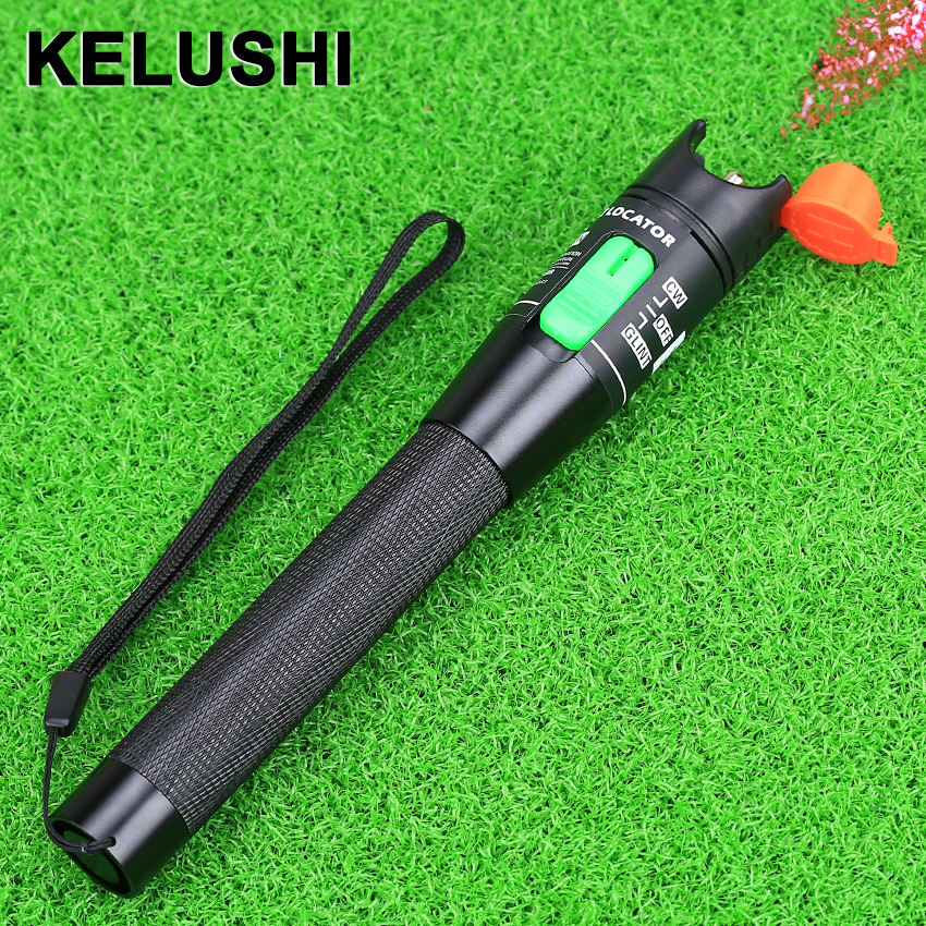 KELUSHI 30MW Red Laser Light  Visual Fault Locator  Fiber Optic Cable Tester 30Km Range Metallic Material
