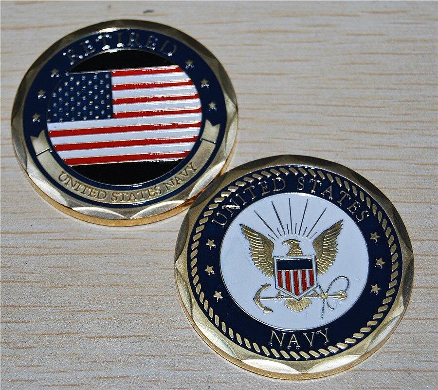 ᗚEstados Unidos fuerza aérea jubilada 24 K oro laminado desafío ...