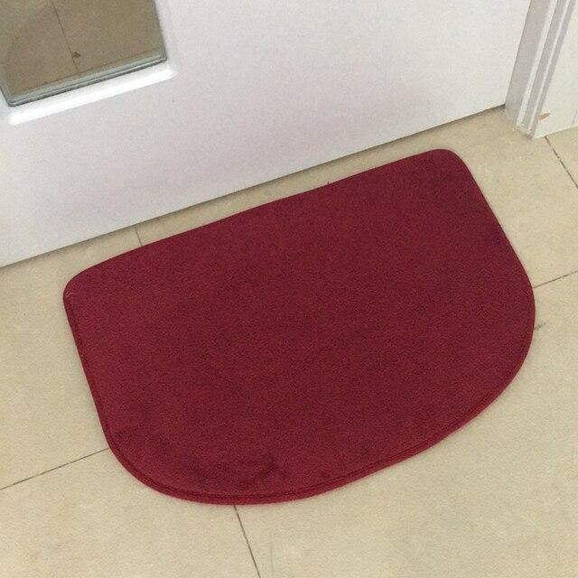 C Fleece Non Slip Area Rug Small Carpet Bathroom Kitchen Absorbent Pad Doormat Door Floor