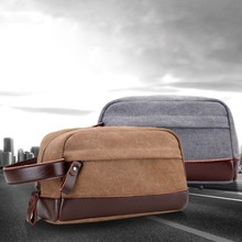 Vintage canvas clutch bag mens casual coin purse storage bag, trend men go out portable hand splicing