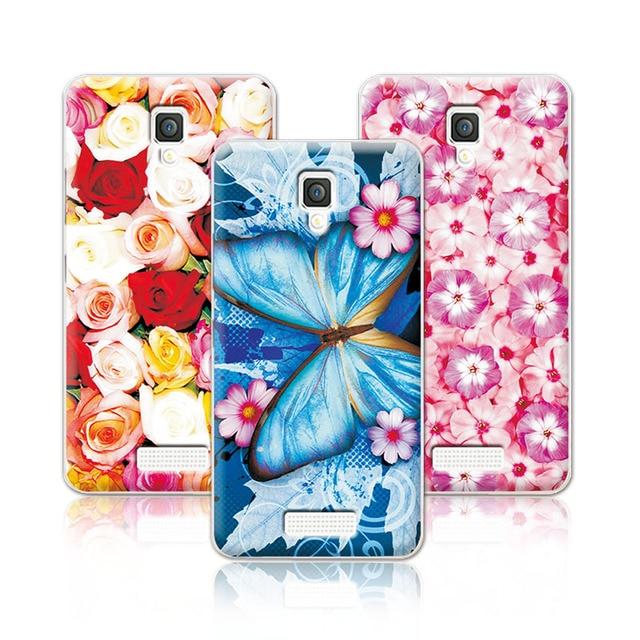 Floral Art Painted Flower Phone Case For Lenovo A2010-a Lenovo A 2010 Case Cover For Lenovo A2010+Free Stylus Pen