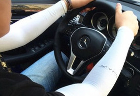 Sun Block Pair Keep Warm Arm Sleeve Sweet Vogue Modelling  Fingerless Gloves/wrist/arm/package