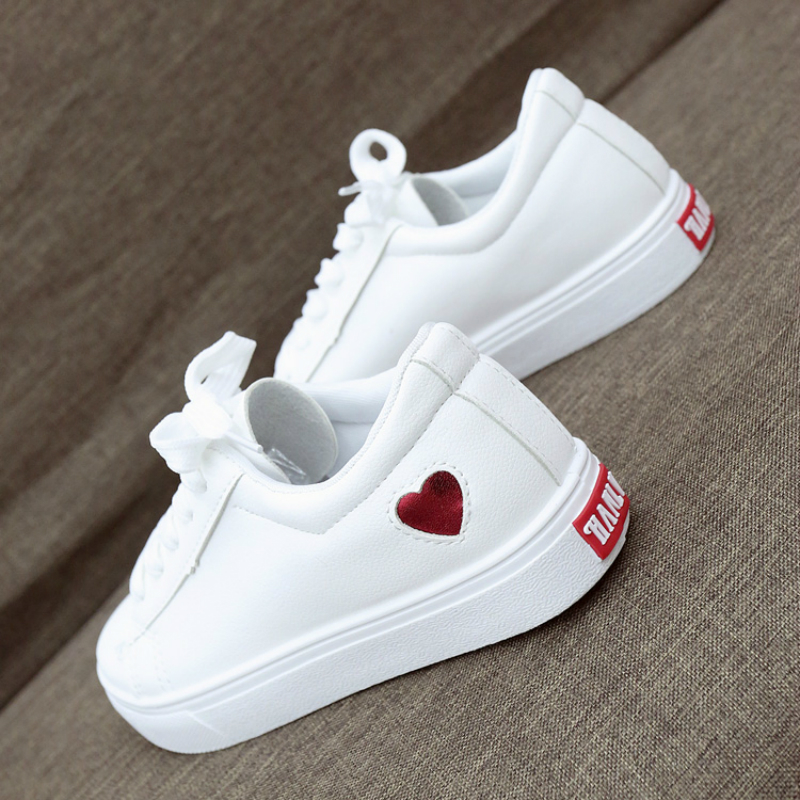 Running Shoes For Women Classic Heart-shaped Love Pattern Design Casual Shoes Female Lace Up Women's Sport Shoes Tennis Feminino
