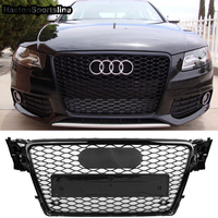 A4 B8 Modified RS4 Style Front Honeycomb Bumper Engine Grill Grids for Audi A4 S4 RS4 2009 2012