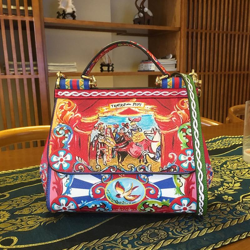 prince-sicily-handbags-leather-shoulder-diagonal-package-female-casual-mobile-printing-platinum-bag
