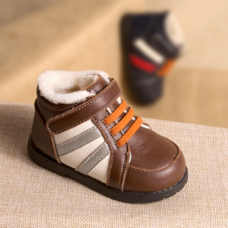 Phynier Casual shoes winter section 1-3-5 year old boy warm cotton shoes baby school shoes soft bottom machine shoes