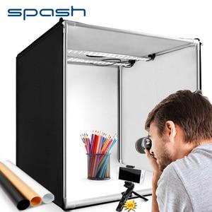 Image 1 - Spash caja de luz portátil para estudio fotográfico caja de luz para foto de 60 cm con fondo de 3 colores, tienda de mesa para fotografía, caja de luz para sesión de fotos