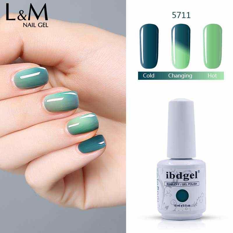 24 PCS ibdgel Chameleon UV gel nail rendam off warna gel nail polish warna Perubahan Suhu gel