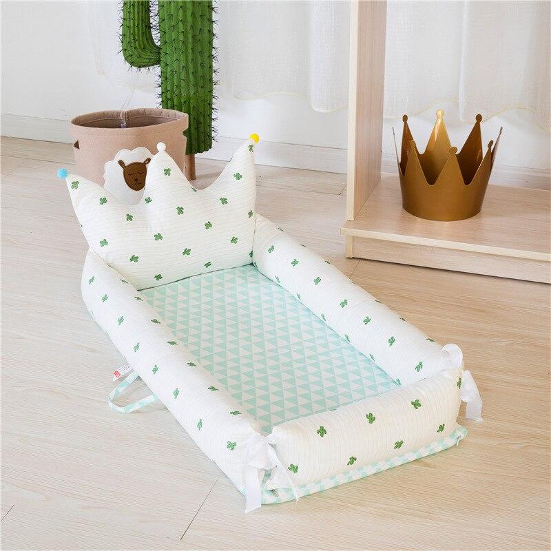 2019 lit bébé de luxe couronne lit de voyage lit pour enfants bébé couffin Portable berceau lit bébé enfants berceau en coton pour nouveau-né