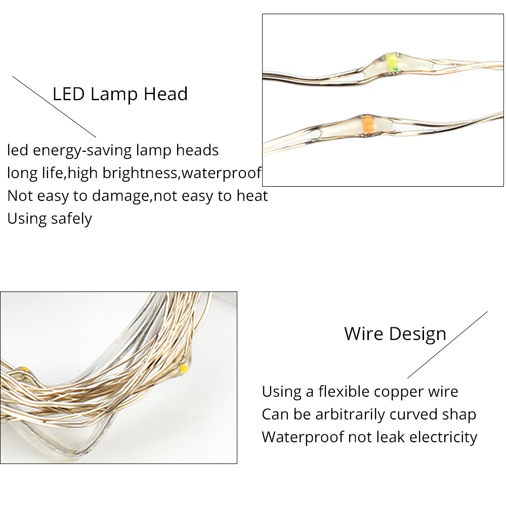 Excellux 2m Led String Lights Copper Wire Battery Powered For Curving Wiring Diagram Use 02 Chip