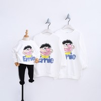 2018 Christmas Family Matching Clothes Hoodies Father Son Shirts Mother and Daughter Clothes Sweaters Pajamas Autumn Top Shirts