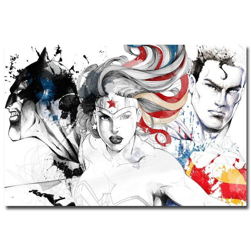89 Best Whats New In Wallpaper Paint Fabric Images On: J1660 Batman VS Superman Movie Wonder Woman Pop 14x21