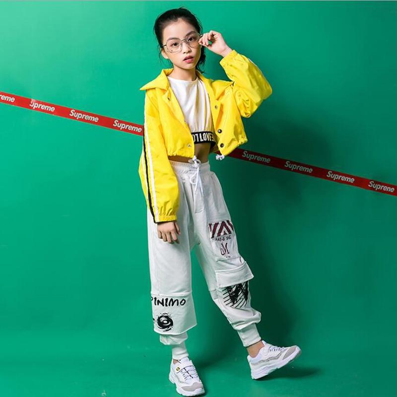 Kids Loose Hip Hop Clothing Casual Shirt Sweatshirt Tops Pants Outfits Girls Jazz Dance Costumes Ballroom Dancing Clothes Wear