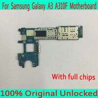 Single / Dual Sim Card for Samsung Galaxy A3 A310F Motherboard,100% Original unlocked for Samsung A310F Logic board+Full Chips
