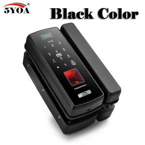 Image 3 - Glass Fingerprint Lock Digital Electronic Door Lock For Home Anti theft Intelligent Password RFID Card Standalone Opener Smart