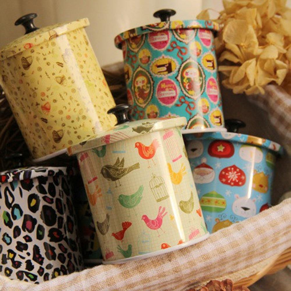 3 Unids / lote Nuevo KEYAMA Cajas de lata de té o dulces con tapa - Organización y almacenamiento en la casa - foto 1