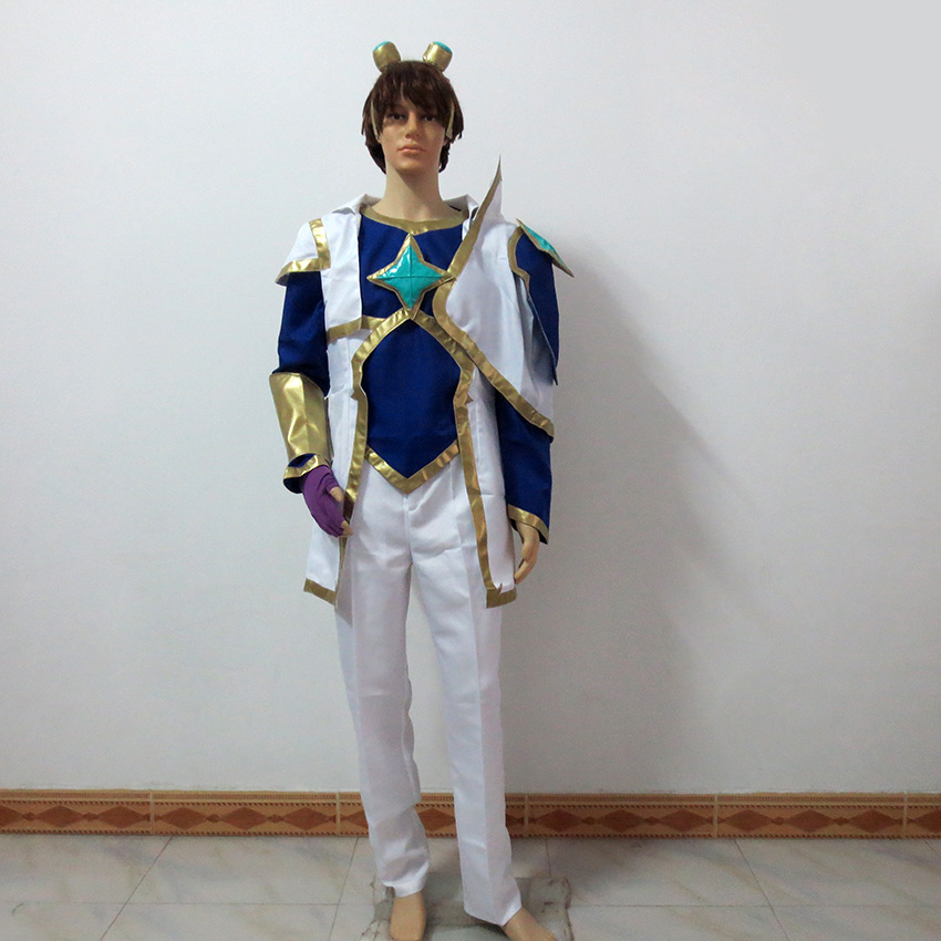 LOL Star Guardian Ezreal the Prodigal Explorer Christmas Party Halloween Uniform Outfit Cosplay Costume Customize Any Size