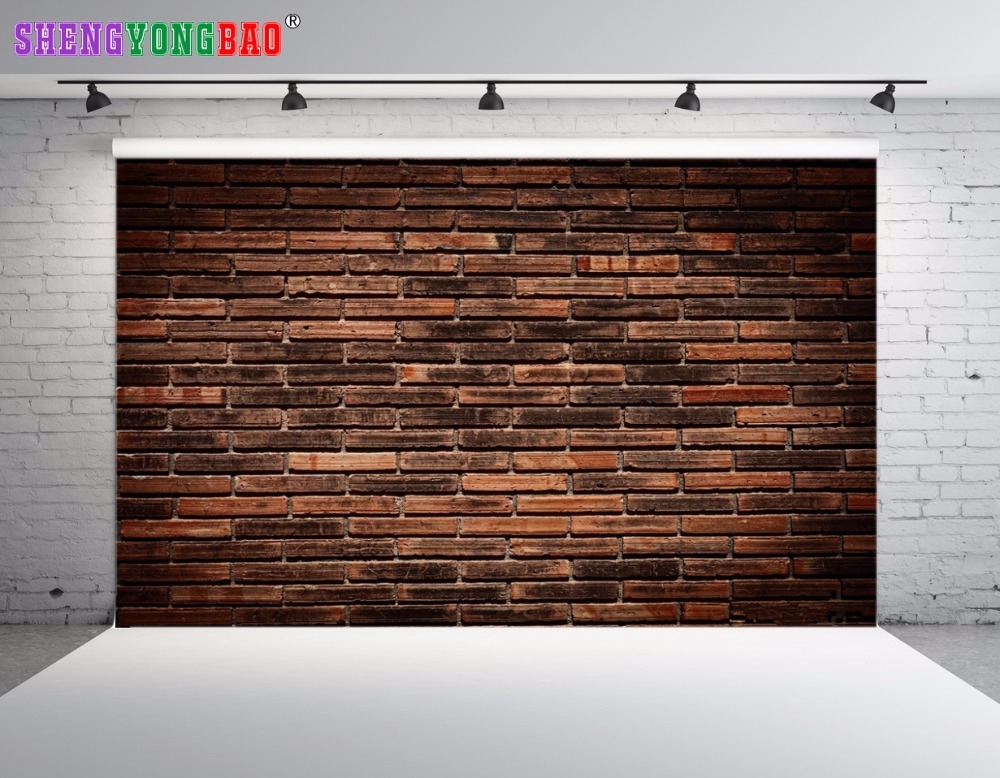 SHENGYONGBAO Art Cloth Digital Printed Photography Backdrops Brick wall theme Prop Photo Studio Background JUT 1715 in Background from Consumer Electronics