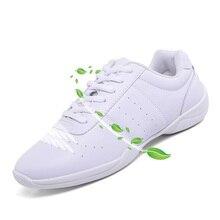 Стиль Детские кроссовки детские белые Современные/Джаз/хип-хоп Танцевальная обувь конкурентоспособная обувь для аэробики мягкая подошва Фитнес Спортивная обувь