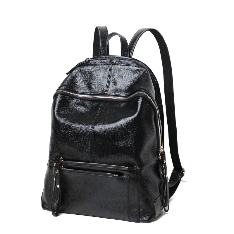 Hot Sale 2016 New Fashion Women Natural Genuine Leather Back packs Large Capacity Shoulder bags Ladies School bag Travel Bag hot sale 2016 new fashion women genuine leather backpack school bag female travel bags daily backpacks casual shoulder bags