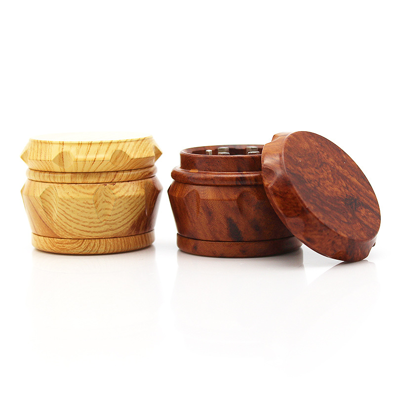 Image 3 - New Arrival Wood Grinder 63 MM 3 Layers Herb Grinder Aluminum Sharp Diamond Teeth Tobacco Grinder Herbal Weed Grinder Gifts-in Tobacco Pipes & Accessories from Home & Garden