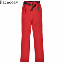 Facecozy Women Outdoor Skiing Pant Multi-Colored Sports Hiking&Camping Trousers Female Winter Warm Cycling&Hunting Fleeces Pants