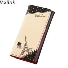 Valink 2017 Women Paris Eiffel Tower Hasp Coin Purse Designer Brand Long Wallet Card Holders Bolsa Women Wallets Carteras Mujer