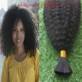 7A Unprocessed Brazilian Afro Kinky Curly Human Braiding Hair 1pcs lot No Weft Bulk Hair For African American Natural Black Hair