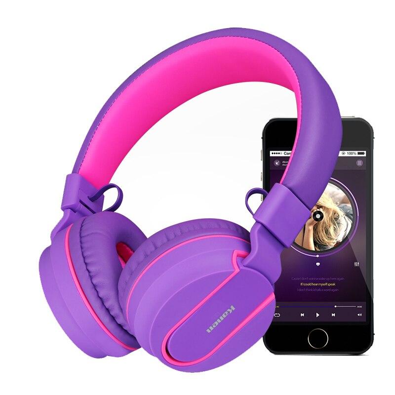 Kanen Drahtlose Kopfhörer Bluetooth Stereo Headsets Ohrhörer Mit Mikrofon Freisprecheinrichtung Kopfhörer Für iPhone Samsung Pc Für Mädchen Kopfhörer