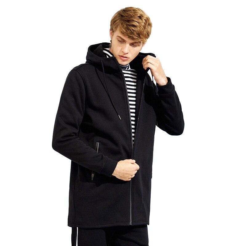 Пионерский лагерь на осень-зиму длинные толстовки с капюшоном брендовая мужская одежда флисовые теплые мужские кофты качественная мужская...