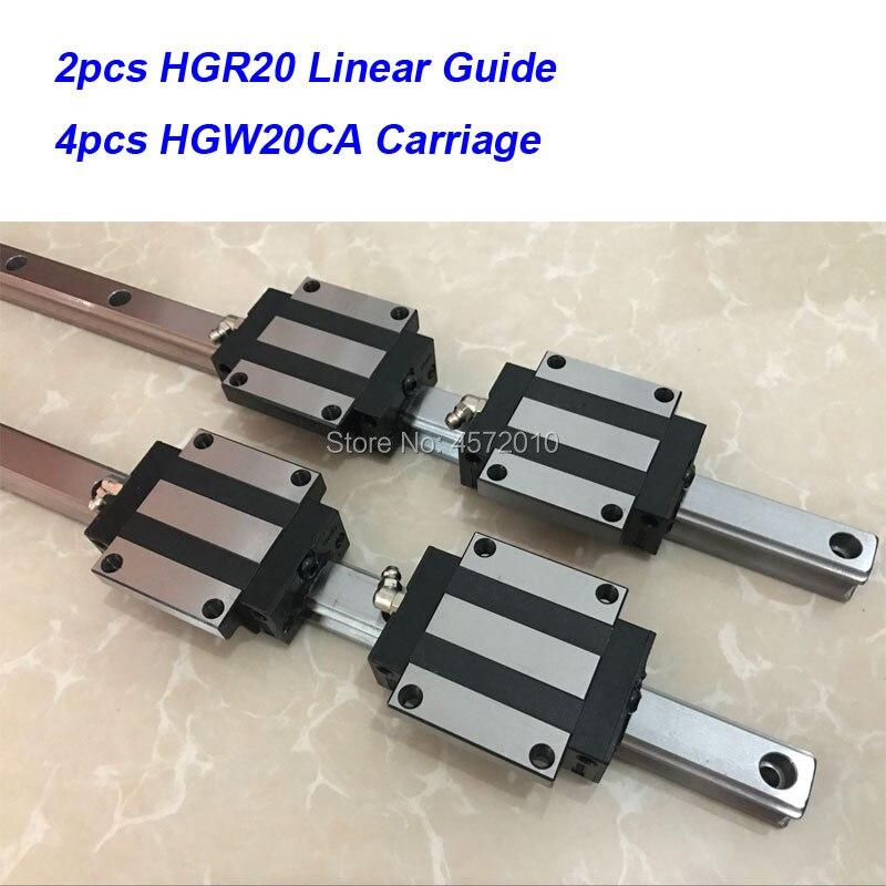 2 pcs HGR20 - 850 900 950 1000mm 1050mm 1100mm linear guide rail with 4 pcs HGW20CA linear block carriage CNC parts2 pcs HGR20 - 850 900 950 1000mm 1050mm 1100mm linear guide rail with 4 pcs HGW20CA linear block carriage CNC parts