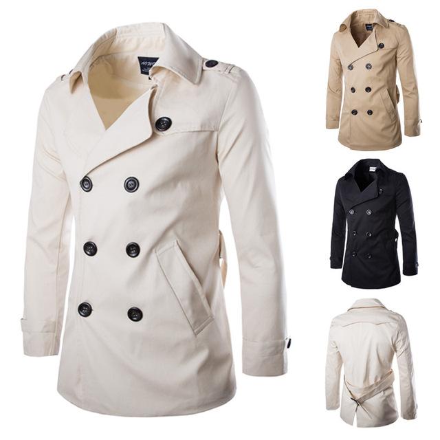 Venta caliente del envío libre hombres casual cazadora abrigo de invierno para hombre outwear 3 colores Ml XL XXL