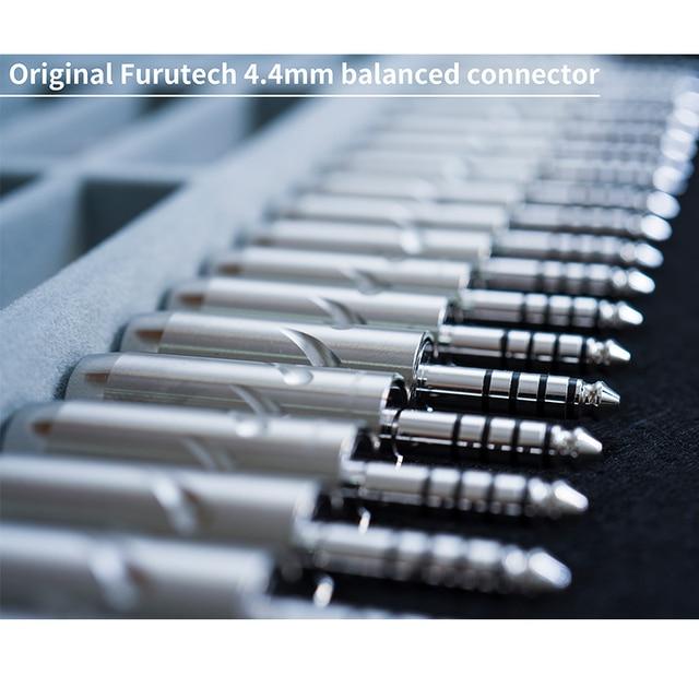 Dunu Standard 2.5mm 3.5mm 4.4mm MMCX Japanese Furutec Balanced Earphone Upgrade Cable for Shure/UE/SONY/JVC/DK3001/Falcon-C 3