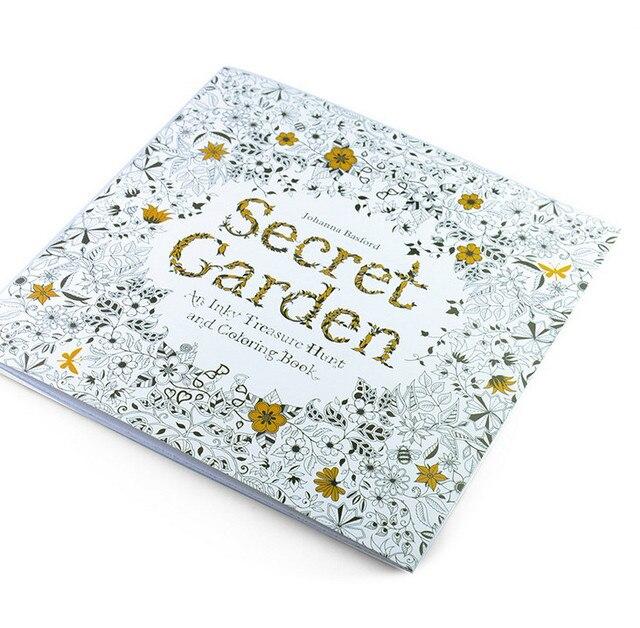 4 unids/lote) 24 páginas inglés jardín secreto libro para colorear ...