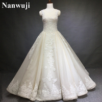 Real Photos Wedding Dress Vestido Branco Elegant A Line Wedding Dresses China Bridal Gowns High Neck