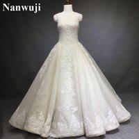 Real Photos Wedding Dress Vestido Branco Elegant A Line Wedding Dresses China Bridal Gowns High Neck