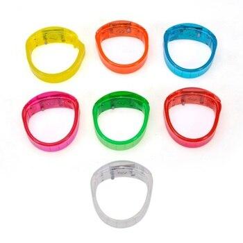 50pcs/lot Solid color Voice Control LED Bracelet Sound Activated Glow Bracelet For Party Clubs Concerts Dancing cheers lin2928