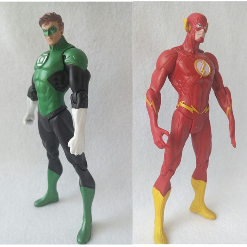 justice league Super Hero the Flash Man Green Lantern Action Figures Toys Collectible PVC Model Toy Christmas Gift For Kids N006 4pcs set deadpool action figures hot toys gift marvel super hero light doll super heroes pvc 18cm collection model