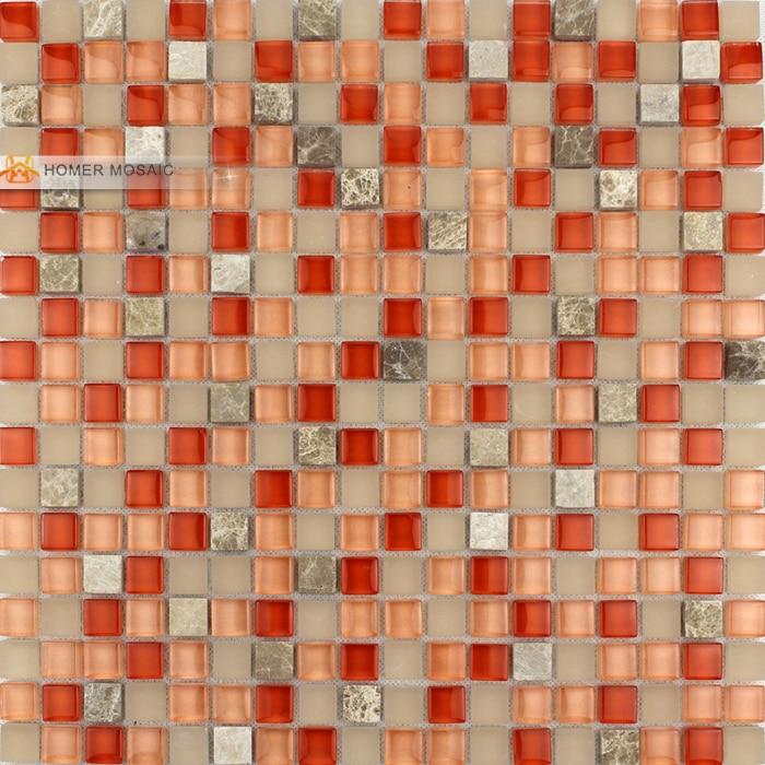 Orange Tiles Mosaic | Tile Design Ideas