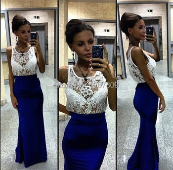 2020 Gorgeous Style Scoop Delicate Lace Mermaid Tarik Ediz Backless Party Gown Celebrity Dresses