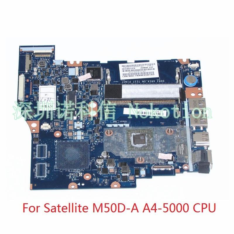 NOKOTION ZRMAE ZEMAE LA-A551P K000150950 For toshiba Satellite M50D-A M50D laptop motherboard A4-5000 cpu битоков арт блок z 551