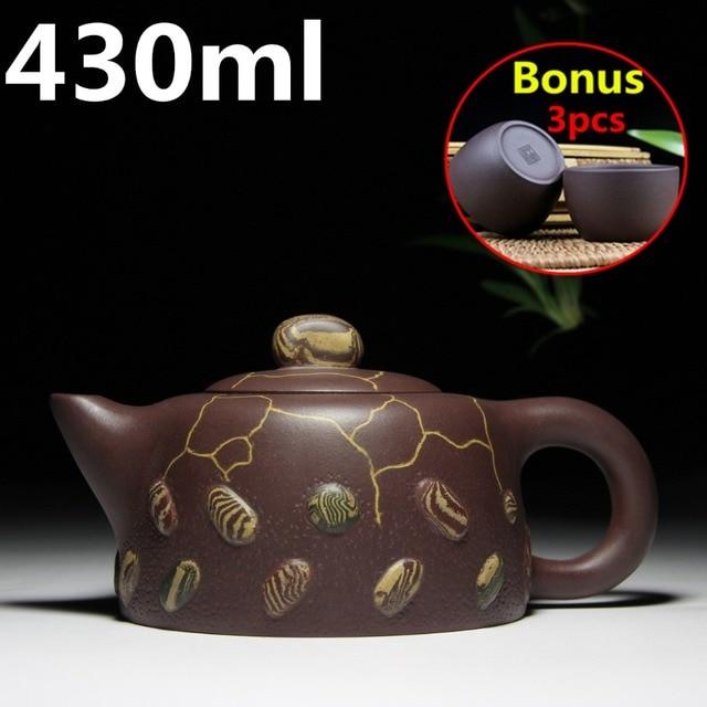 Big Capacity Tea Pot 430ml Teapots Yixing Zisha Clay Tea Set