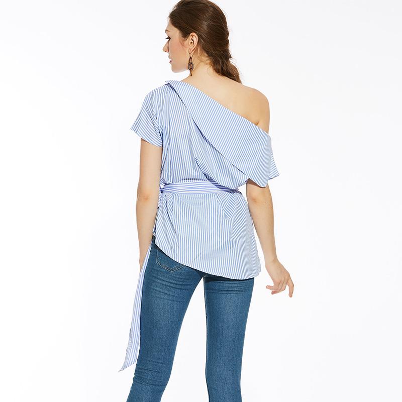 HTB1j585SFXXXXbBXVXXq6xXFXXXv - Summer office blouses Off Shoulder Women slash neck