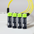 USB Rechargeable Battery 1250mAh AA Battery Charger Cable li-polymer USB rechargeable lithium li-ion usb battery USB cable pack
