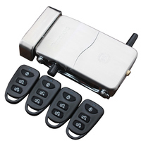 Remote Control Electronic Door Lock Set Security Padlock Lock Automatically Intellisense Household Warded Lock with 4 Remotes